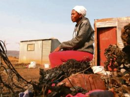 Mpumelelo Ndlovu from Mamelodi East says she fasted and went to the mountain to pray and at 1am, she received a call that her shack had burnt down. Photo by Raymond Morare .